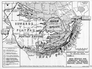 aquifers of the Edwards plateau and Balcones escarpment