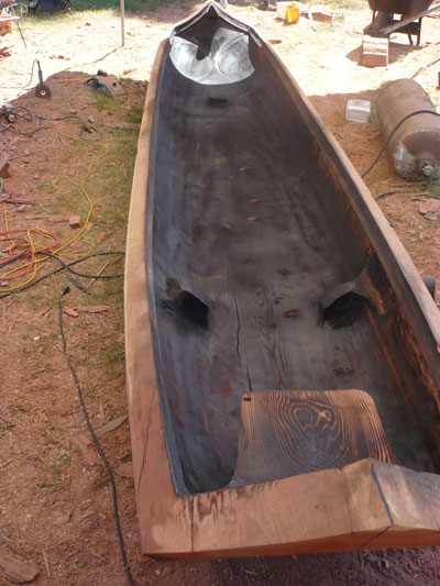 Yurok traditional redwood canoe. Photo credit: http://www.actaonline.org/content/acta-welcomes-19-teams-apprenticeship-program